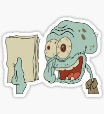 Crazy Squidward Sticker