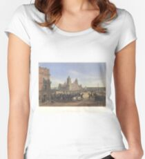 Adolphe Jean-Baptiste Bayot - General Scott's Entrance into Mexico (1851) Women's Fitted Scoop T-Shirt