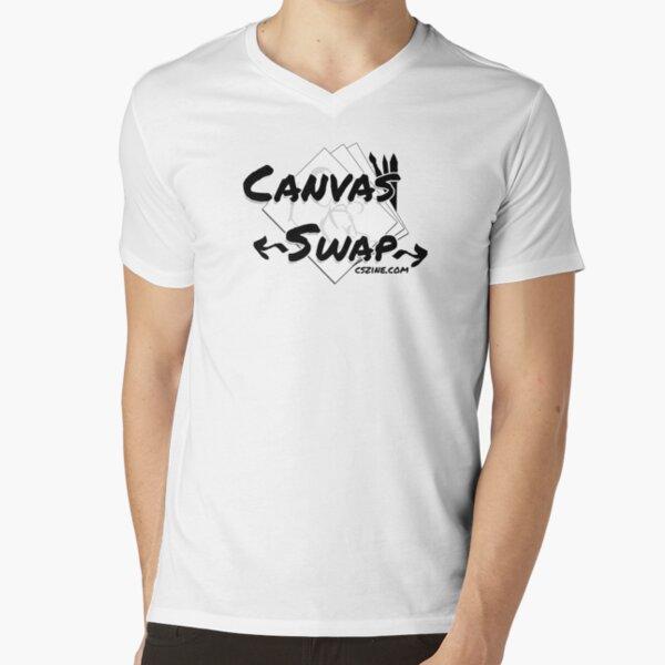 Canvas Swap - Logo (2 versions) V-Neck T-Shirt