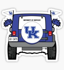 University of Kentucky Jeep Sticker