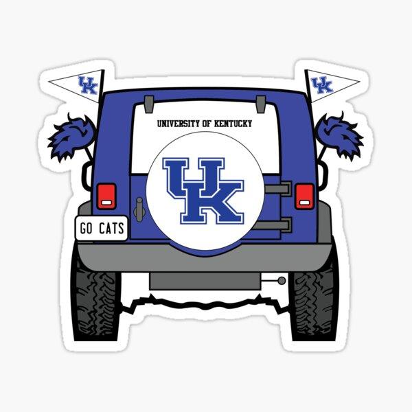 University of Kentucky Jeep Sticker