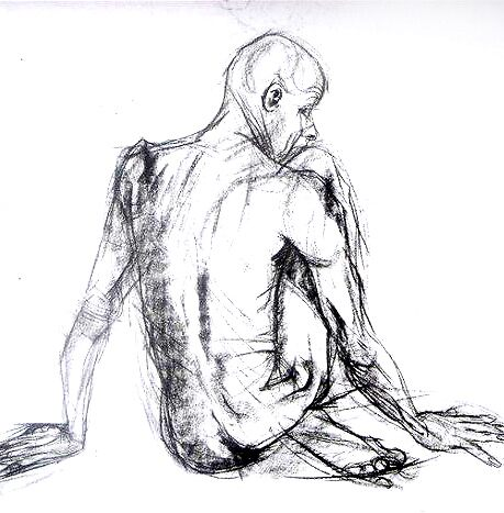 Early nude drawing #2 by BM Ruskin
