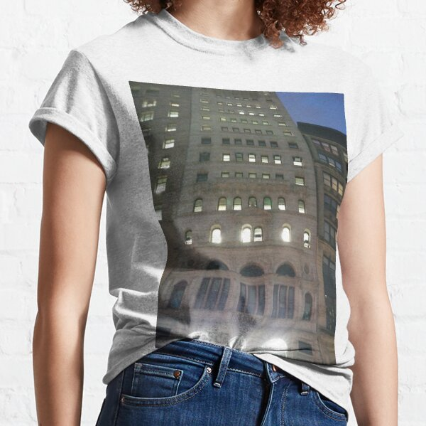 Street, City, Buildings, Photo, Day, Trees Classic T-Shirt