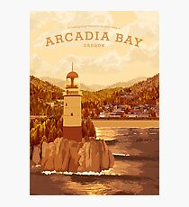 Das Leben ist seltsam - Arcadia Bay Travel Poster (Sonnenuntergang) Fotodruck