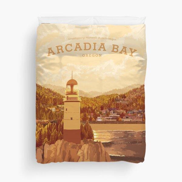 Life is Strange - Arcadia Bay Travel Poster (Sunset) Duvet Cover