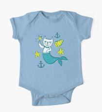 A simple Purrmaid (mermaid kitten) One Piece - Short Sleeve
