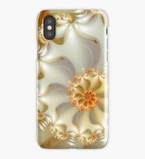 white and orange spiral fractal  iPhone Case/Skin
