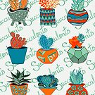 I Love Succulents  by Lisafrancesjudd