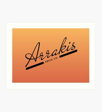 Arrakis Spice Co. Art Print