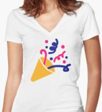 Party fireworks Women's Fitted V-Neck T-Shirt