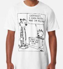 "Calvin and Hobbes ""A Swift Kick in the Butt"" Comic Strip Long T-Shirt"