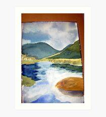 tidal river 1 Art Print