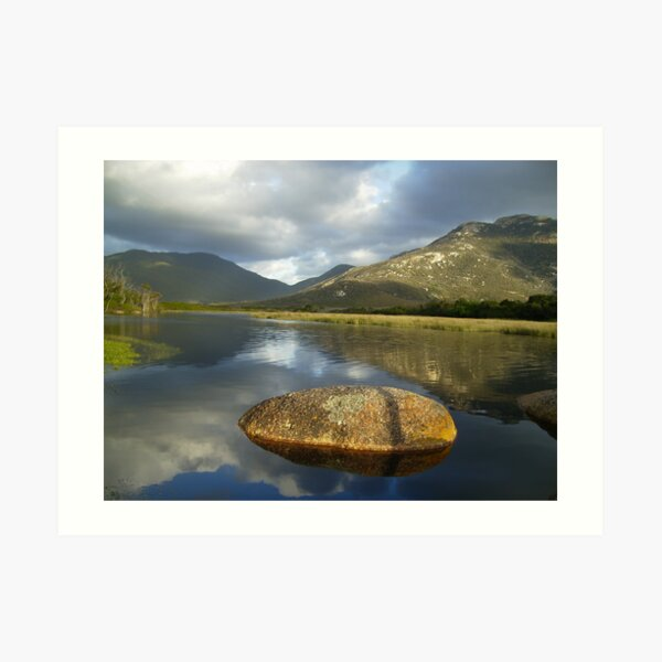 classic photo of Tidal river  Art Print