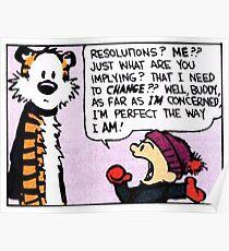 Calvin and Hobbes Comic Strip Poster