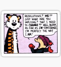 Calvin and Hobbes Comic Strip Sticker
