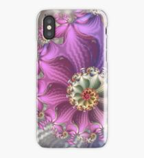 pink and purple silky fractal iPhone Case/Skin
