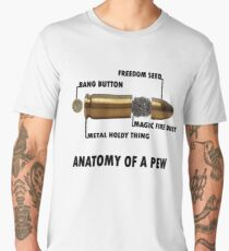 Anatomy of a Pew FPS Bullet Deconstruction For Gamers Geeks and Nerds Men's Premium T-Shirt