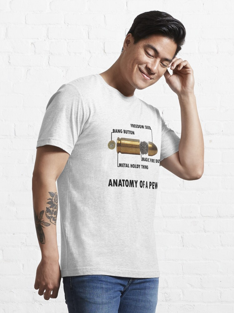 Alternate view of Anatomy of a Pew FPS Bullet Deconstruction For Gamers Geeks and Nerds Essential T-Shirt