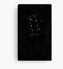 Gemini Zodiac Constellation Canvas Print