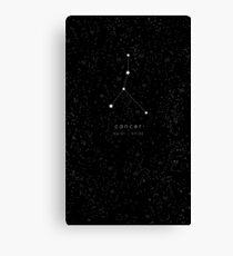 Cancer Zodiac Constellation Canvas Print
