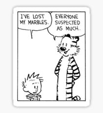 Calvin and Hobbes Comic Strip Sticker