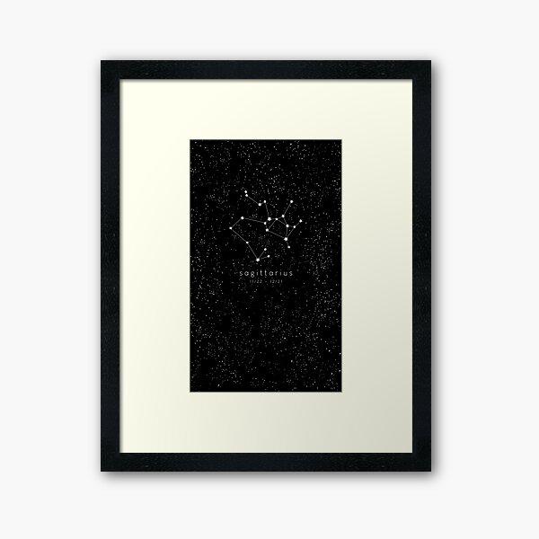 Sagittarius Zodiac Constellation Framed Art Print