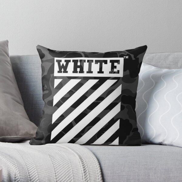 White And Bape Throw Pillow