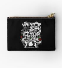 SIX OF CROWS | 'Every Mounstrous Thing...' Zipper Pouch