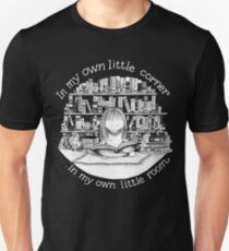In My Own Little Corner (Black Background) Unisex T-Shirt
