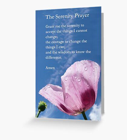 The Serenity Prayer - Prayer for Guidance Greeting Card