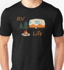RV Camping Design For RV Life / Camp Fire Road Travel Unisex T-Shirt