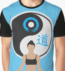 Tranquil Spirit - Blue Graphic T-Shirt