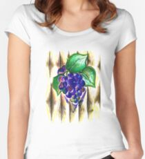 Ripened Grapes Women's Fitted Scoop T-Shirt