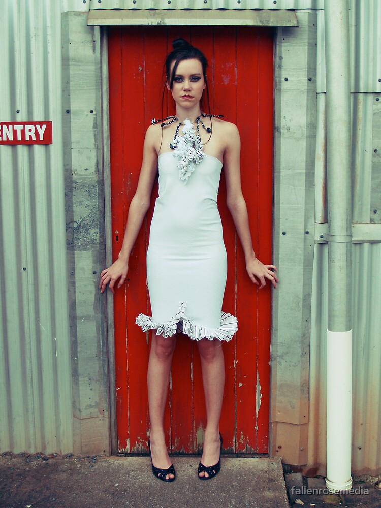 Woman Of The Red Door by fallenrosemedia