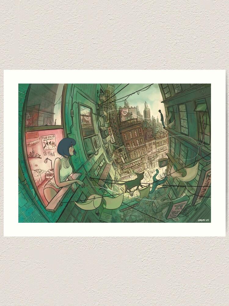 Alternate view of Hott City Art Print