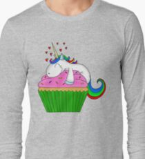 Unicorn Cupcake Long Sleeve T-Shirt