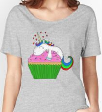 Einhorn Cupcake Loose Fit T-Shirt