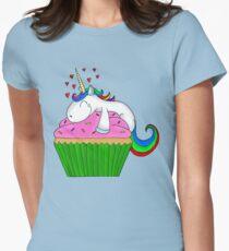 Unicorn Cupcake Women's Fitted T-Shirt