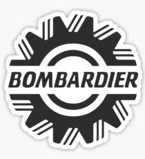 Bombardier Airplane GRY Sticker
