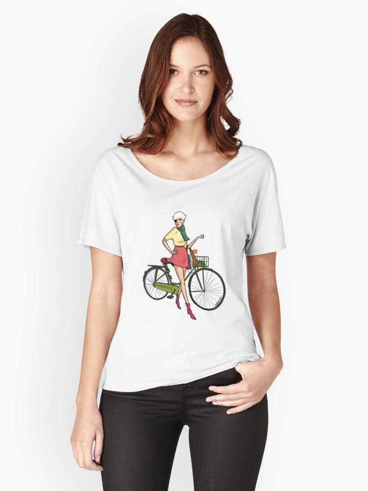 Agyness Cartoon  Women's Relaxed Fit T-Shirt Front