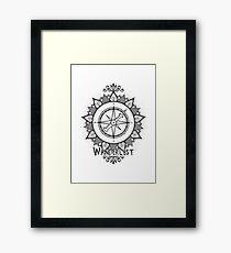 Wanderlust Compass Design - Black Framed Print