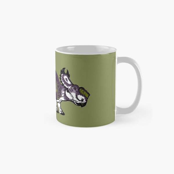 Purple and Green Pachyrhinosaurus Classic Mug