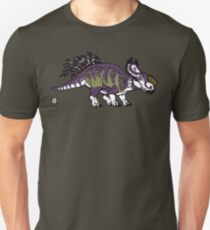 Purple and Green Pachyrhinosaurus Unisex T-Shirt