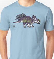 Purple and Green Pachyrhinosaurus Unisex T-Shirt