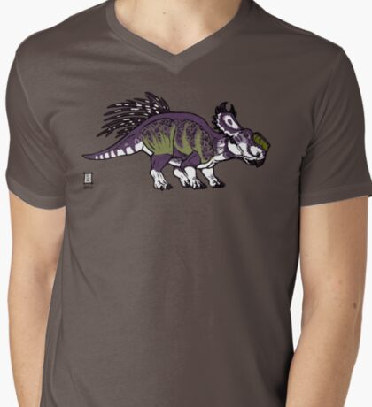 Purple and Green Pachyrhinosaurus T-Shirt