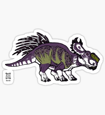 Purple and Green Pachyrhinosaurus Sticker