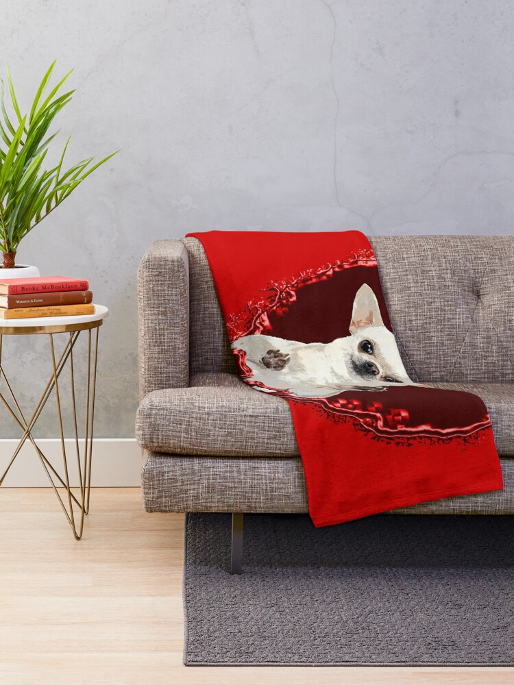Alternate view of CHIHUAHUA ST VALENTIN DOG Throw Blanket