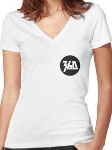 360 Rapper Logo  Women's Fitted V-Neck T-Shirt
