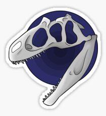 Pegatina Cráneo de Allosaurus