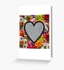 Less than 3  Greeting Card